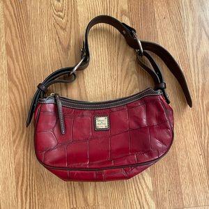 Dooney & Bourke maroon genuine leather handbag